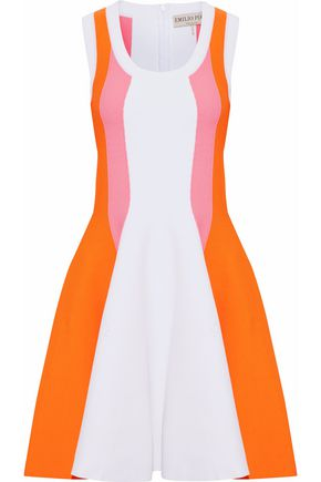EMILIO PUCCI Paneled crepe mini dress