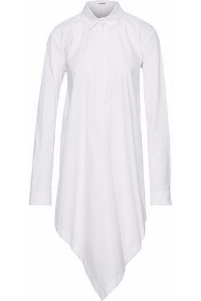 JIL SANDER Asymmetric draped cotton-blend poplin shirt