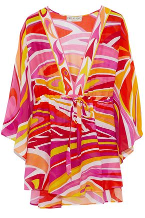 EMILIO PUCCI Printed cotton and silk-blend tunic