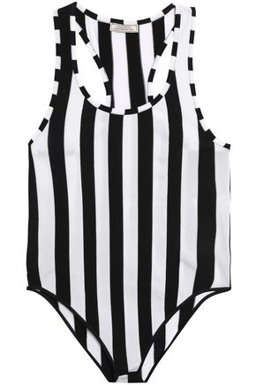 NINA RICCI Striped stretch-jersey bodysuit