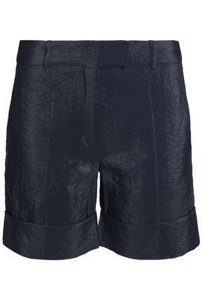 NINA RICCI Wrinkled crepe de chine shorts