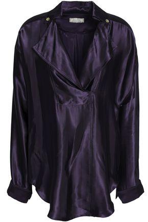 NINA RICCI Satin-twill blouse