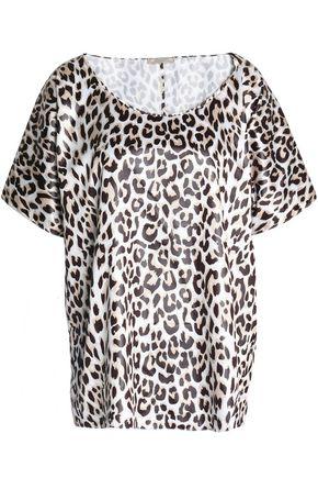 NINA RICCI Leopard print satin top