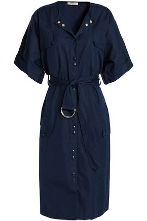NINA RICCI Belted cotton shirt dress