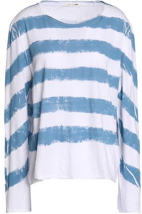RAG & BONE/JEAN Striped cotton-jersey top