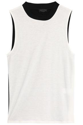 RAG & BONE Layered stretch-knit jersey top