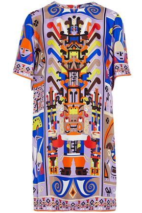 EMILIO PUCCI Printed silk-satin twill mini dress
