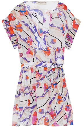 EMILIO PUCCI Printed cotton-gauze coverup