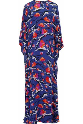 EMILIO PUCCI Draped printed silk-chiffon maxi dress