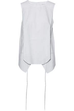 ROBERT RODRIGUEZ Asymmetric gathered cotton-poplin top