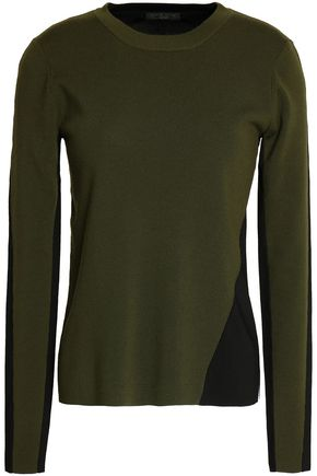 RAG & BONE Two-tone wool-blend top