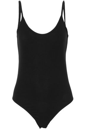 VINCE. Ribbed stretch-jersey bodysuit