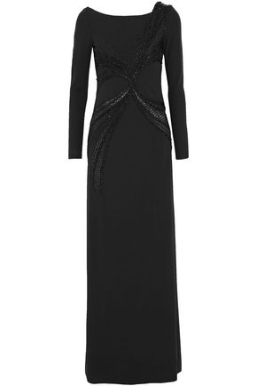 EMILIO PUCCI Embellished stretch-jersey gown