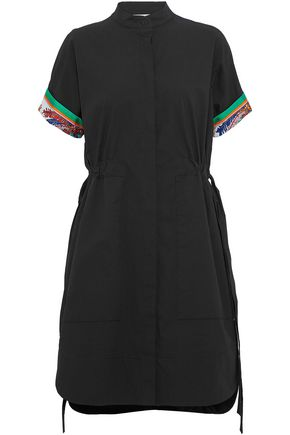 EMILIO PUCCI Paneled cotton and silk-blend dress
