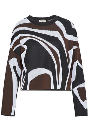 EMILIO PUCCI Jacquard stretch-knit top