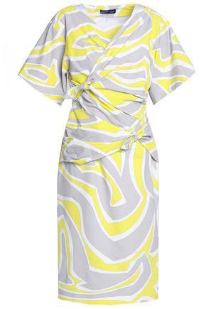 Emilio Pucci Woman Draped Silk-chiffon Maxi Dress Bright Yellow Size 48 Emilio Pucci s82VhU
