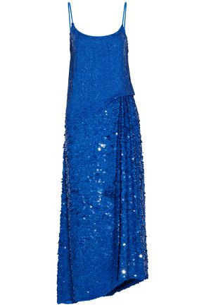 EMILIO PUCCI Sequined gathered silk-gauze maxi dress