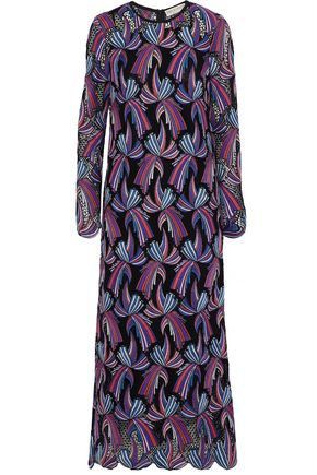 EMILIO PUCCI Cotton-blend guipure lace maxi dress