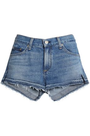 RAG & BONE/JEAN Frayed denim shorts