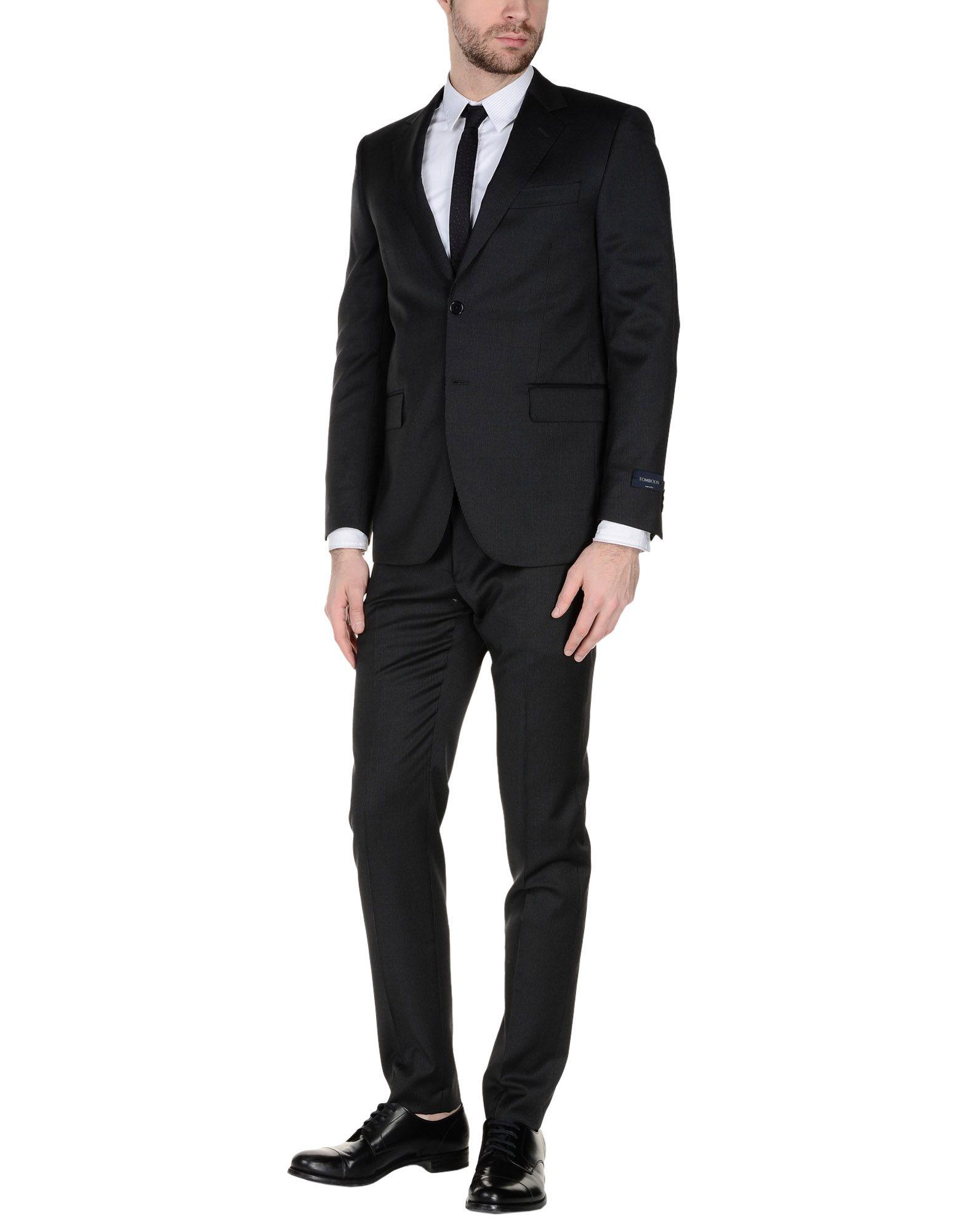 《送料無料》TOMBOLINI メンズ スーツ スチールグレー 52 バージンウール 100%