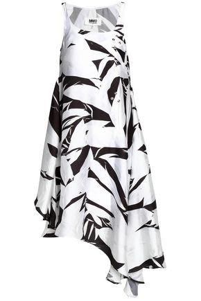 MM6 MAISON MARGIELA Printed asymmetrical cady dress