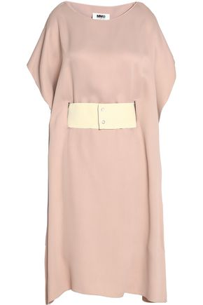 MM6 MAISON MARGIELA Belted crepe de chine dress