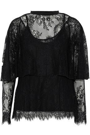 ROBERT RODRIGUEZ Layered Chantilly lace top