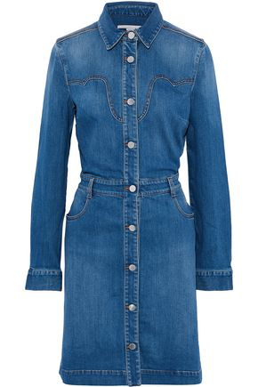 STELLA McCARTNEY Fluted denim dress