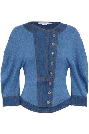 STELLA McCARTNEY Denim-paneled cotton top