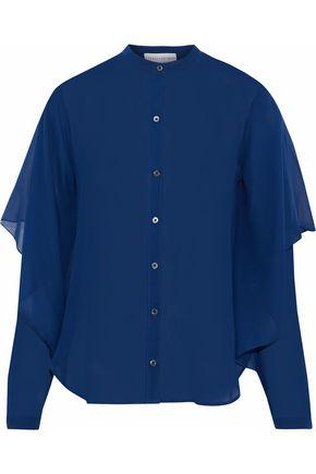 ROBERT RODRIGUEZ Layered silk-chiffon shirt