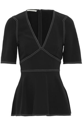 STELLA McCARTNEY Crepe de chine peplum top