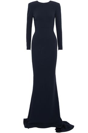 STELLA McCARTNEY Fluted cutout crepe de chine gown