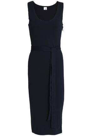 IRIS & INK Toni belted jersey midi dress