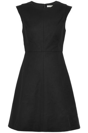 HALSTON HERITAGE Fluted stretch-cotton mini dress
