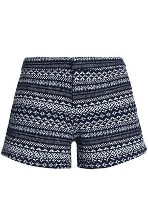 JOIE Cotton-blend jacquard shorts