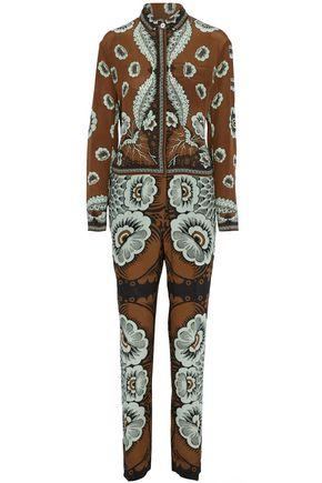 VALENTINO Printed silk crepe de chine jumpsuit