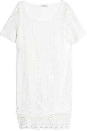 JOIE Crocheted cotton-blend mini dress
