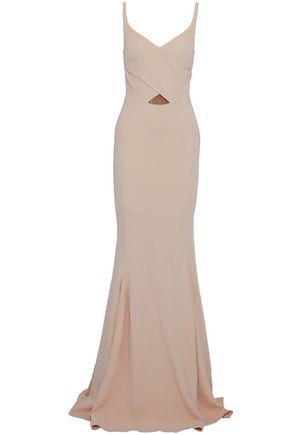 STELLA McCARTNEY Fluted wrap-effect crepe gown