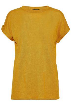 BALMAIN Slub linen-blend jersey T-shirt