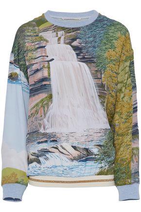 STELLA McCARTNEY Glitter-trimmed printed organza top