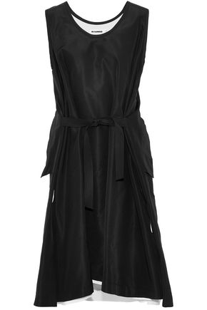 JIL SANDER Tie-front silk dress