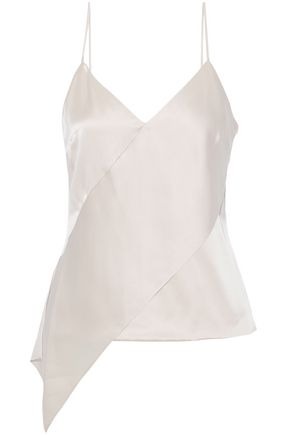 CUSHNIE ET OCHS Asymmetric silk-satin top