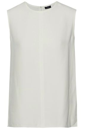 JOSEPH Frayed crepe top