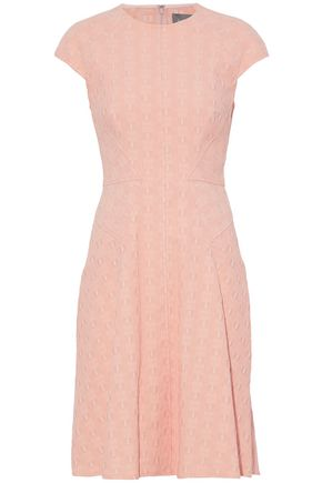 LELA ROSE Fluted cloqué dress