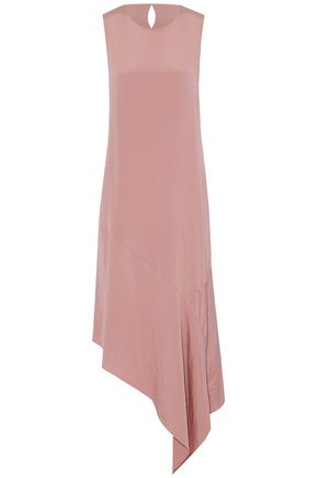 JOSEPH Asymmetric silk-crepe de chine midi dress
