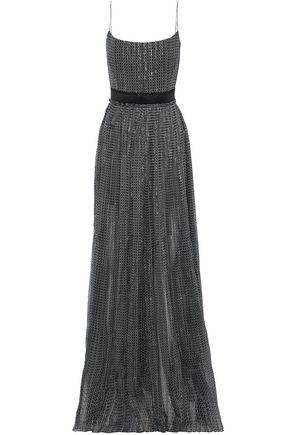 STELLA McCARTNEY Metallic printed silk-blend georgette gown