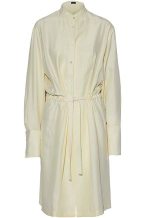 JOSEPH Victor gathered washed-silk shirt dress