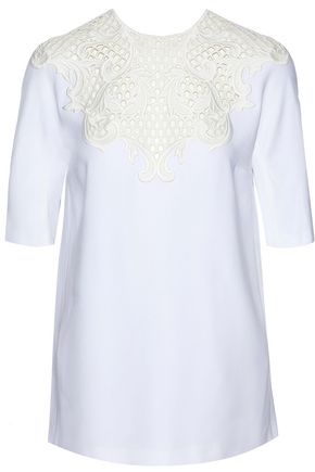 STELLA McCARTNEY Embroidered crepe top