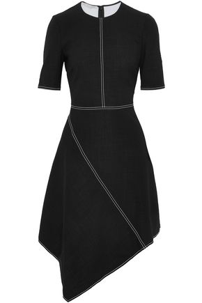 STELLA McCARTNEY Asymmetric stretch-wool crepe dress