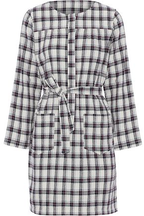 A.P.C. Checked cotton-blend mini dress